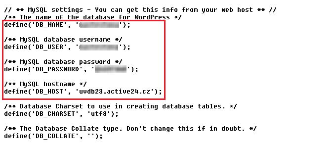WordPress - domain change - ACTIVE 24, s r o